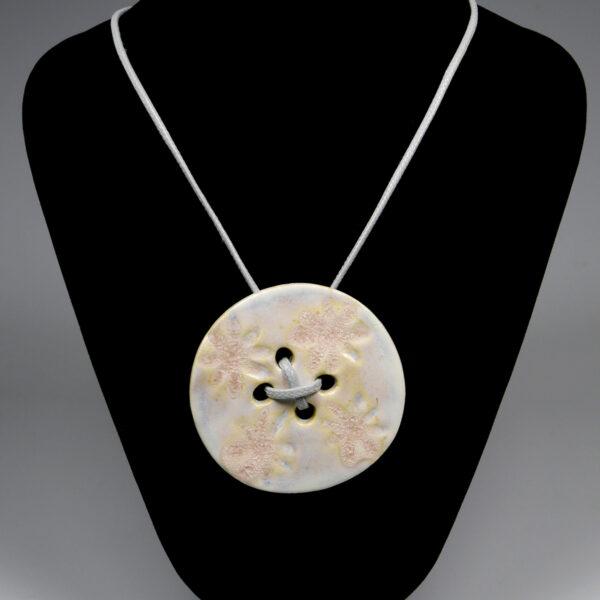 Wisior ceramiczny Pastelowy Guzik