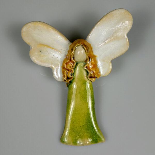 Aniołek ceramiczny Wiosenny