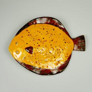Ryba ceramiczna Słoneczna Flądra dekoracja na ścianę