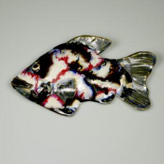 Ryba ceramiczna Psychodeliczna, ręcznie robiona ozdoba