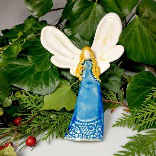 Anioł ceramiczny Poetyczny, upominek dla przyjaciela