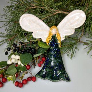 Aniołek ceramiczny Opiekuńczy, prezent dla dziecka
