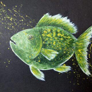 Rybia Piękność -obraz akrylowy