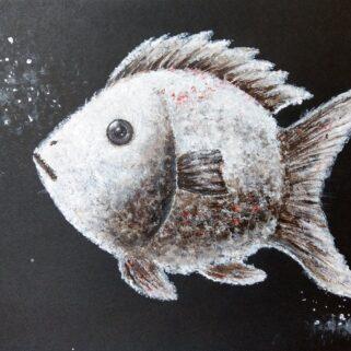 Mroźna Ryba -obraz akrylowy
