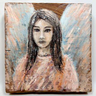 Anioł - obraz na desce - Dorota Waberska