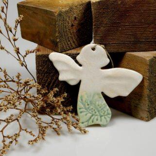 Aniołek ceramiczny na pamiątkę