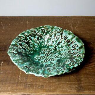 Zielona miseczka ceramiczna
