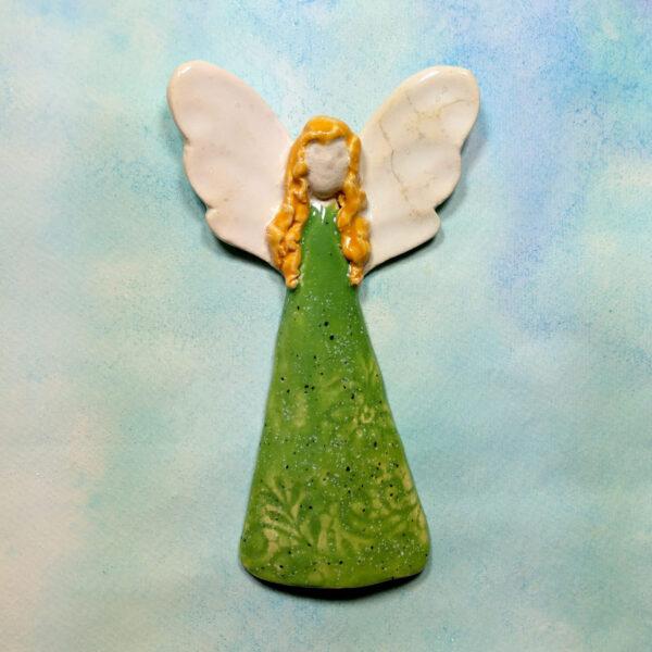 Anioł ceramiczny rudowłosy