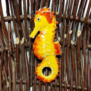 Ceramiczny Konik Morski żółty