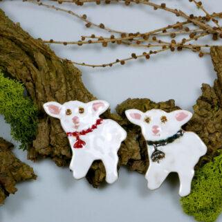 Świąteczne baranki, wiosenna dekoracja, dodatek do wystroju stołu świątecznego, stroika, koszyczka ze święconką lub zawieszka na ścianę.