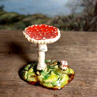 Muchomory ceramiczne grzyby rzeźba