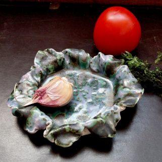Miska ceramiczna - Fioletowy Kwiat