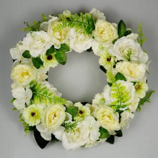 Wianek kwiatowy Biały Walc dekoracja ślubna