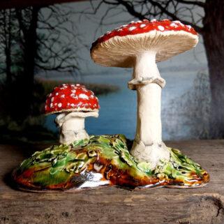 Dekoracyjne grzyby muchomory ceramiczne