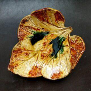 Jesienny liść paterka ceramiczna