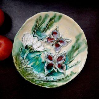 Talerz ceramiczny - Z Motylami