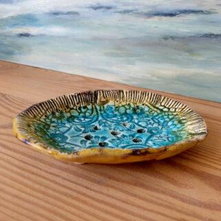 Morska mydelniczka ręcznie wykonana