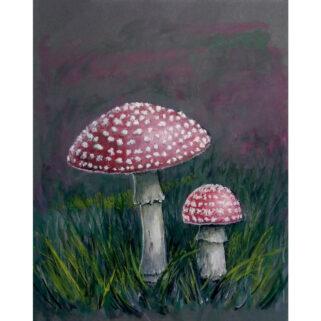 Muchomory - obraz ręcznie malowany