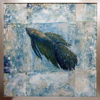 Bojownik - obraz malowany akrylem