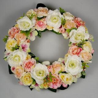 Wianek na ścianę Różany Ogród trwała dekoracja całoroczna