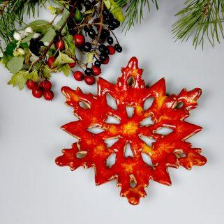 Ceramiczna Świąteczna Gwiazda, prezent na święta
