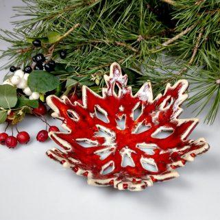 Czerwona miseczka dekoracja świąteczna